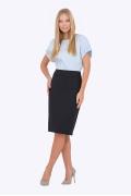 Чёрная юбка для офиса Emka Fashion 369-dorofeya