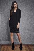 Чёрное хлопковое платье Ennywear 260080