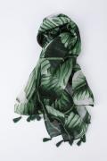 Лёгкий зелёный шарф Flaibach S20A07