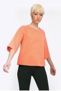 Весенняя блузка персикового цвета Emka B2311/smoozi