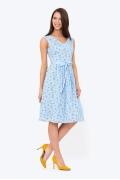 Расклешенное платье с V вырезом Emka Fashion PL-672/ksilla