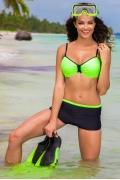 Чёрно-зеленый женский купальник Primo 301/1