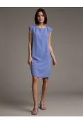 Платье прямого силуэта сиреневого цвета Emka PL1037/punch