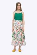 Лёгкая длинная юбка-полусолнце Emka S711/floral