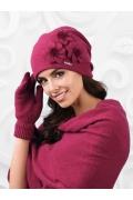 Женская шапка брусничного цвета Kamea Teramo