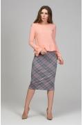 Женская блузка персикового цвета Donna Saggia DSB-46-39