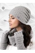 Трикотажная шапка серого цвета Kamea Argenta