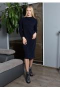 Тёмно-синее платье TopDesign B9 022