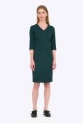 Тёмно-зеленое платье-футляр Emka PL758/alberi