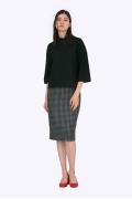 Шерстяная юбка с узором гусиная лапка Emka S605/gipsy