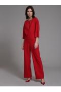 Красные широкие брюки Emka D167/viskam