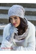 Меланжевые женские перчатки Kamea Enrica