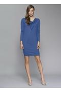 Трикотажное платье синего цвета Zaps Sandra