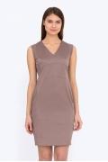 Платье-футляр без рукавов цвета какао Emka PL-624/zinaida