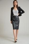 Черная юбка с оборкой Emka S843/sortan