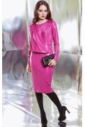 Розовое платье под кожу TopDesign premium PB3 20