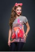 Женская футболка с веселым принтом Issi 171109