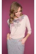 Розовая трикотажная блузка с длинным рукавом Zaps Cabras