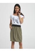 Летняя юбка цвета хаки Ennywear 250078