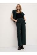 Трикотажные брюки зелёного цвета Emka D239/nelly