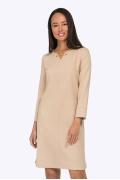 Платье бежевого цвета из плотной ткани Emka PL736/sansara