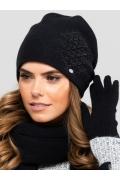 Чёрная женская шапка-бандана Kamea Asturia