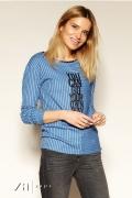 Голубая блузка в полоску Zaps Zarina