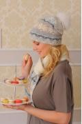 Комплект (шапка+шарф) Landre Джемми (молоко/бежевый)