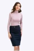 Темно-синяя прямая юбка Emka S671-60/nonna