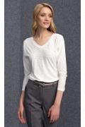 Трикотажная блузка с V-вырезом Zaps Peg
