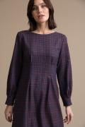 Платье в клетку Emka PL1059/hong