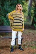 Полосатый свитер oversize Fobya F594