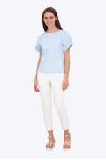 Белые женские брюки Emka D-019/sentiment