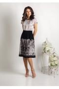 Летнее платье с эффектом юбки и блузки TopDesign Premium PA6 06