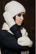 Комплект женский (шапка+шарф+варежки) SuperShapka Вики