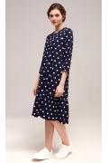 Платье в горох из фактурной ткани TopDesign B7 028