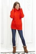Женский свитер алого цвета Andovers Z284