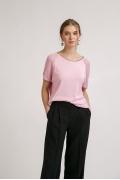 Розовый джемпер с рукавами в сетку Emka B2476/azazel