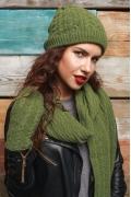 Комплект хаки (шапка+шарф+варежки) SuperShapka Вики