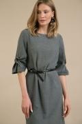 Серое платье прямого кроя Emka PL957/ambata