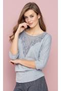 Блузка серого цвета Zaps Izabela