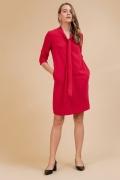 Платье с бантом красного цвета Emka PL972/nagima