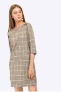 Короткое платье в клетку Emka PL824/amazon