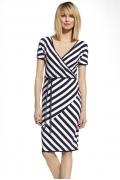 Летнее платье в бело-синюю полоску EnnyWear 230056