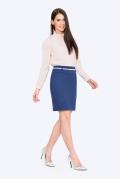 Синяя офисная юбка Emka S202-50/sea