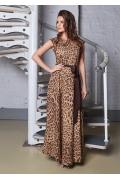 Длинное платье леопардового цвета TopDesign A8 040