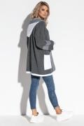 Кардиган с капюшоном и контрастными карманами Fobya F567