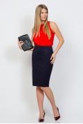 Тёмно-синяя юбка Emka Fashion 533-valentina
