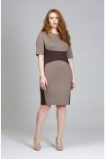 Двухцветное платье из трикотажа Donna Saggia DSPB-10-39t