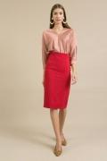 Красная юбка-карандаш (коллекция 2019) Emka S699/rosso